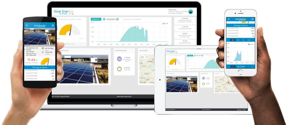 Sistema Gratuito de Monitoramento Solar Energy
